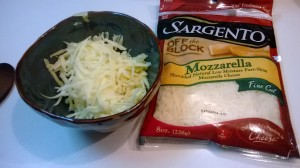 mozzarella and vegetarian cheddar cheese